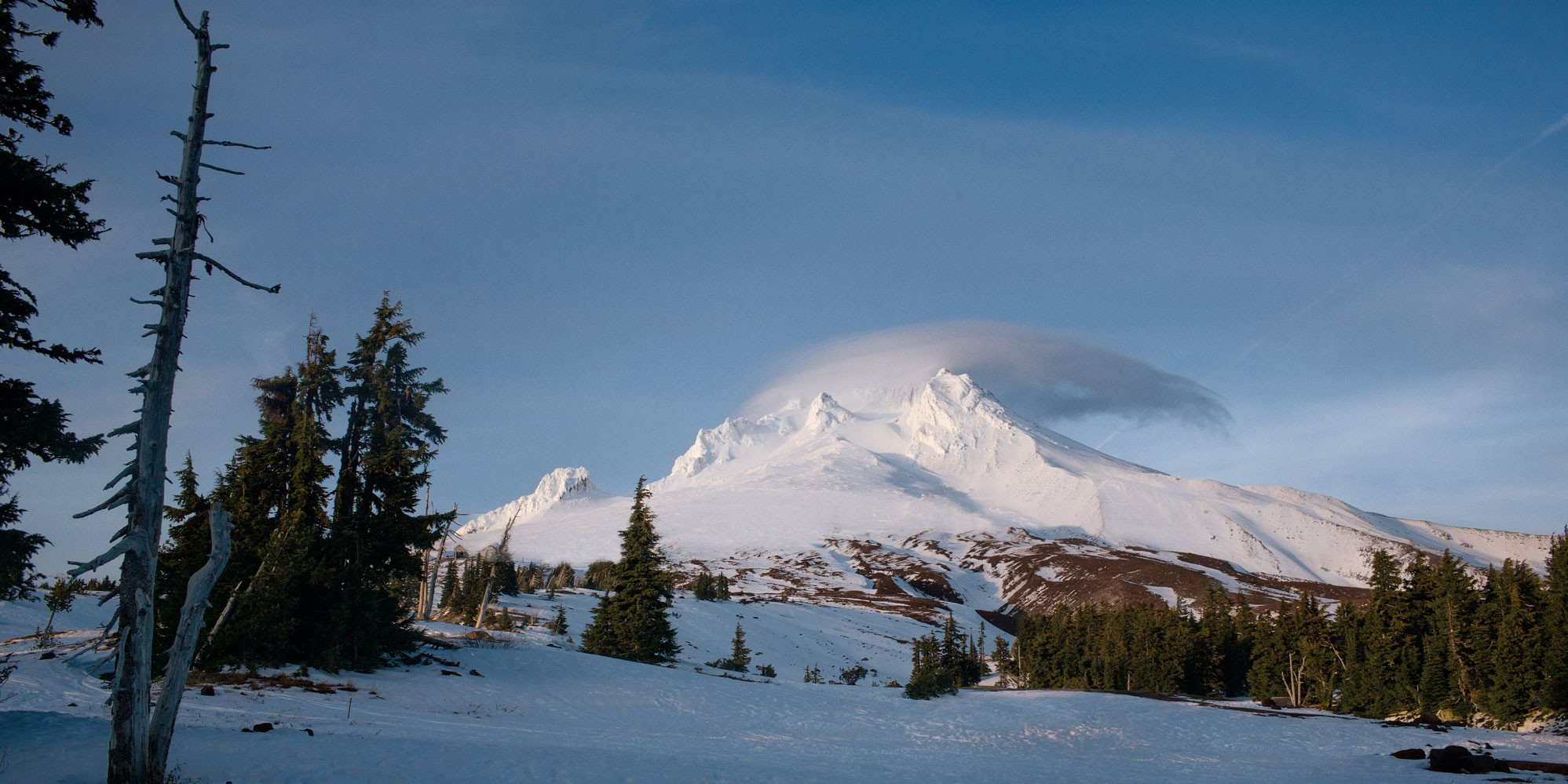 Mt. Hood's perpetually snowy peak by Chantal Anderson
