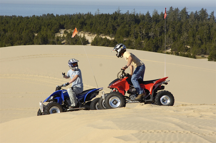 Rent an ATV at the Oregon Dunes.